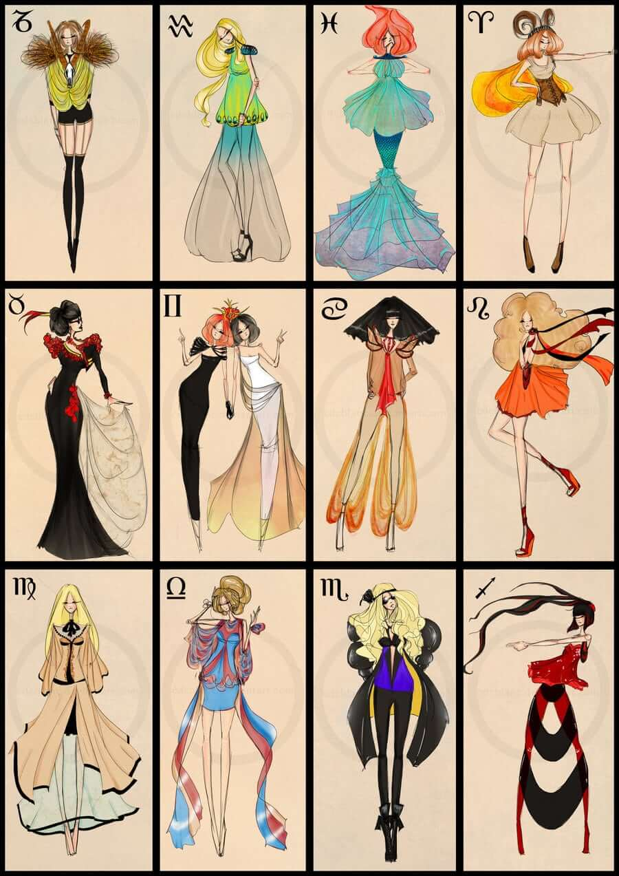 original outfits based on zodiac full