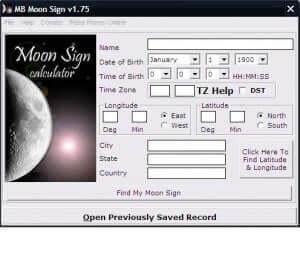 moon and sun sign calculator