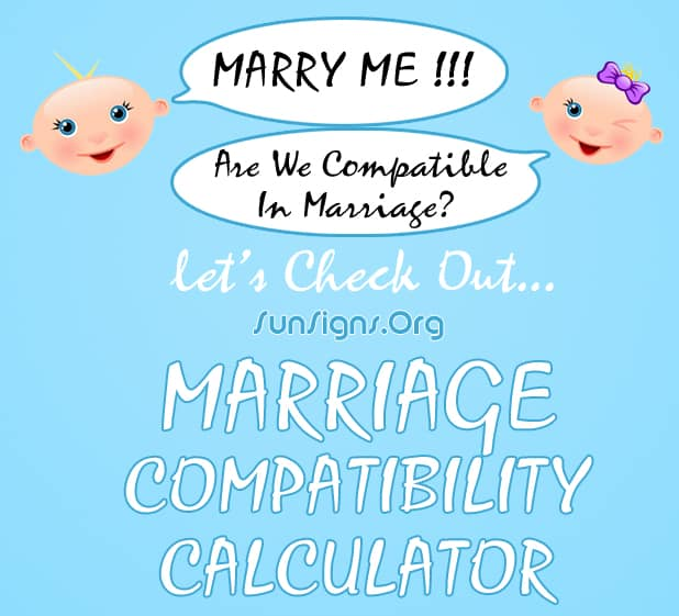 Marriage Compatibility Test Calculator | SunSigns Org