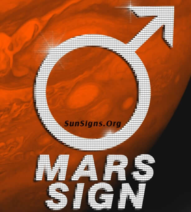 The Mars sign is a key to the passionate part of our inner life.