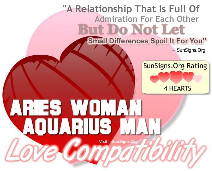 aries woman aquarius man compatibility. A Relationship That Is Full Of Admiration For Each Other With Its Share Of Small Differences.