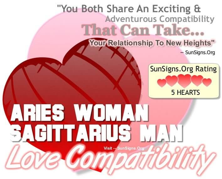 aries woman sagittarius man compatibility. You Both Share An Exciting And Adventurous Relationship