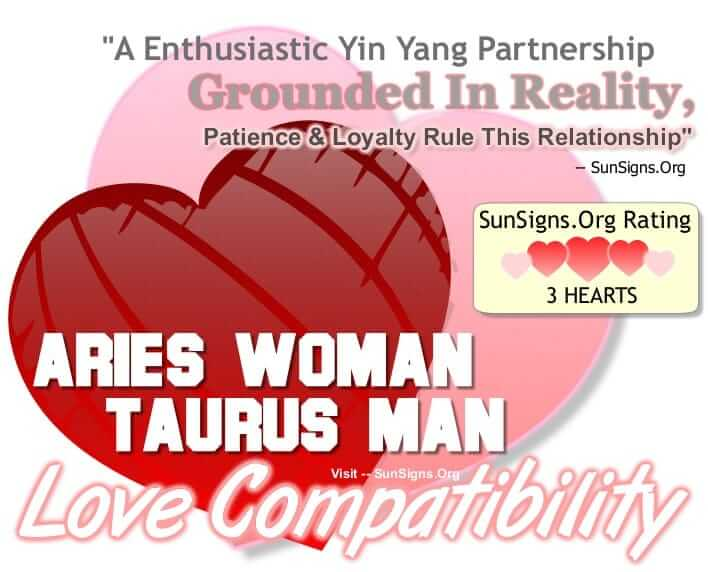 aries woman taurus man compatibility. An Enthusiastic Yin Yang Relationship Grounded In Reality Patience And Loyalty