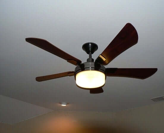 If you are trying to get pregnant, you should stop sleeping with a ceiling fan directly above you