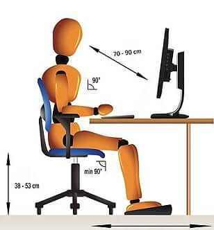 Place your desk at a comfortable distance from your computer