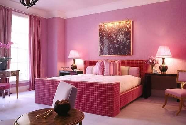 fengshui bedroom pink
