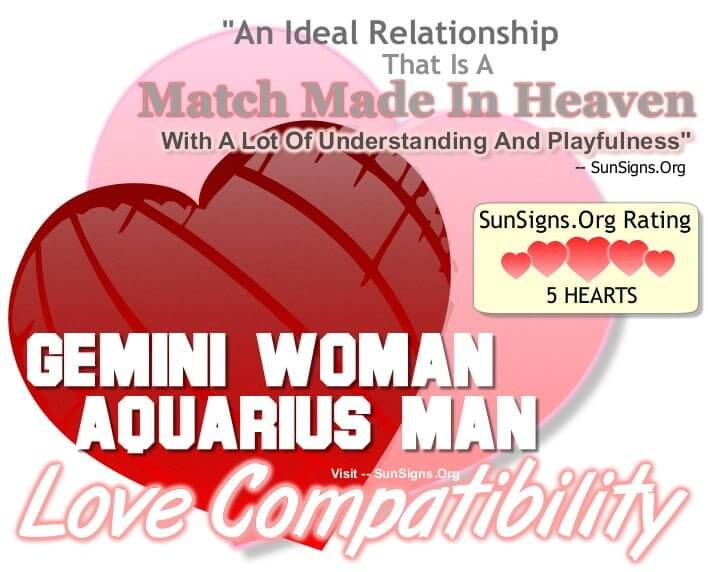 gemini woman Aquarius man. An Ideal Relationship That Is A Match Made In Heaven With A Lot Of Understanding And Playfulness