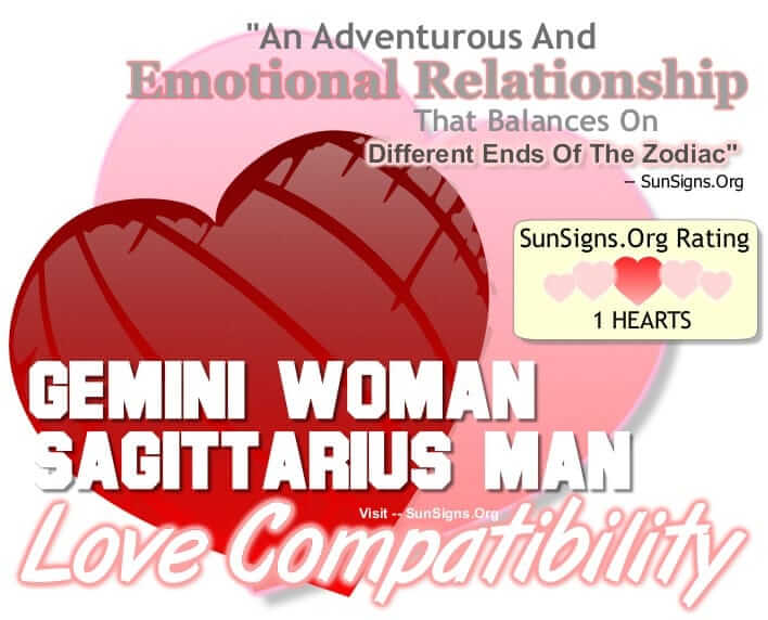 gemini woman sagittarius man. An Adventurous And Emotional Relationship That Balances On Two Different Ends Of The Zodiac Or Just Might Not