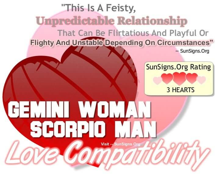gemini woman scorpio man. A Feisty, Unpredictable Relationship That Can Be Flirtatious And Playful Or Flighty And Unstable Depending On Circumstances