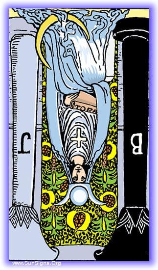 the high priestess reversed