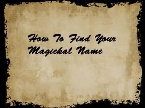 magickal name