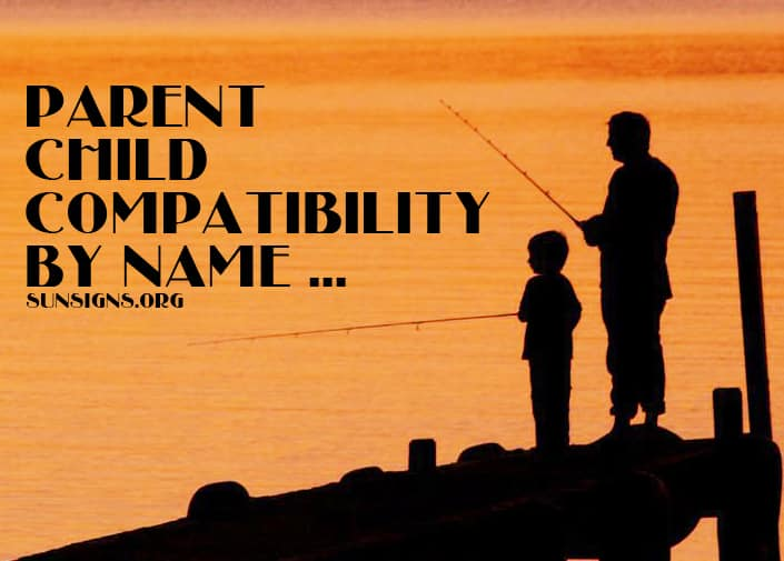 This online parent child compatibility calculator takes into account the names of the parents children.