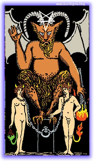 This tarot meditation of the Devil card upright is going to be on the perils of letting the desire for control get out of, well, control.
