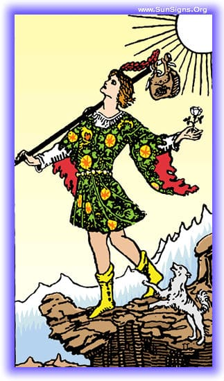 In this Fool tarot meditation, you may feel fear, or challenged by the surroundings and perils of what's to come.