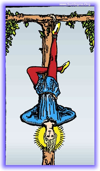 This tarot meditation of the hanged man card upright is about the power of patience and inaction.