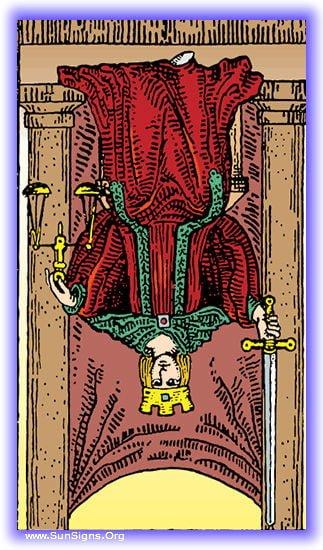Tarot Meditation For Justice Reversed