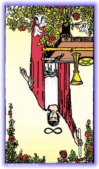 The tone of this Magician card in reversed meditation is unrealized potential, creativity, unhappiness in our craft