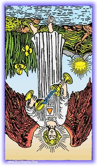 This tarot meditation on the Temperance card reversed focuses on what happens when we lose our sense of equity.