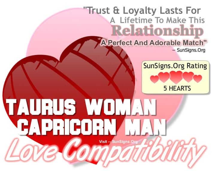 Capricorn Man and Taurus Woman