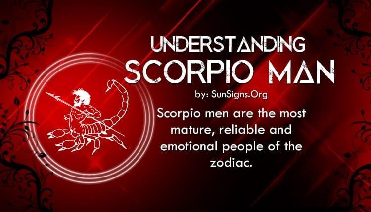 Understanding scorpio men