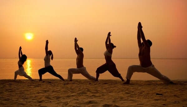 The lungs are thoroughly ventilated in the process of sun salutations