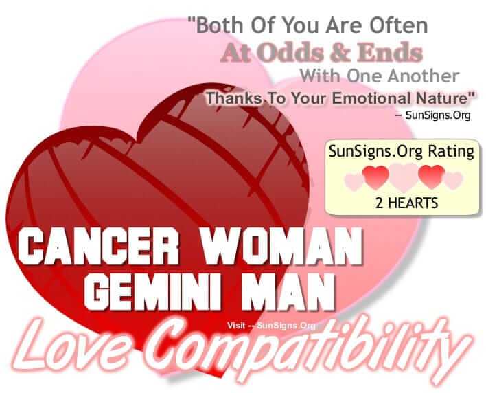 cancer woman gemini man