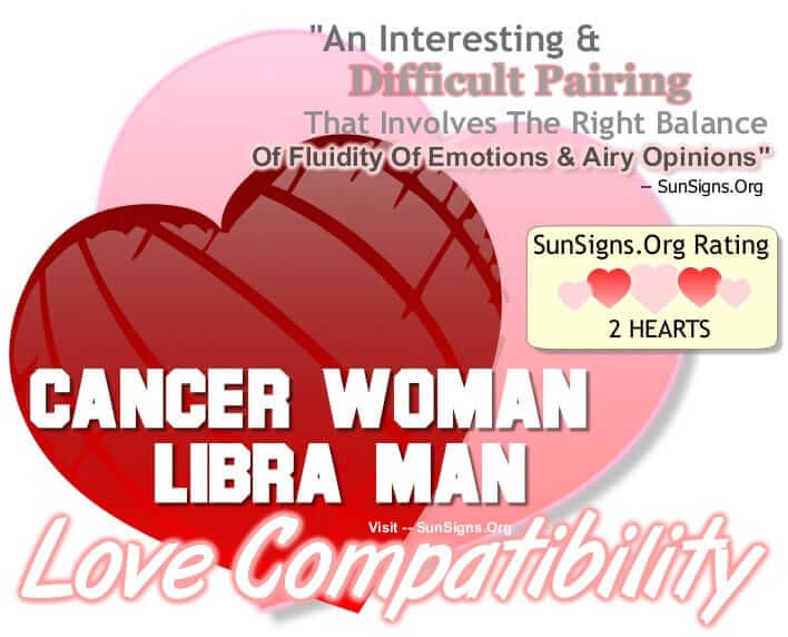 Cancer Woman Compatibility With Libra Man