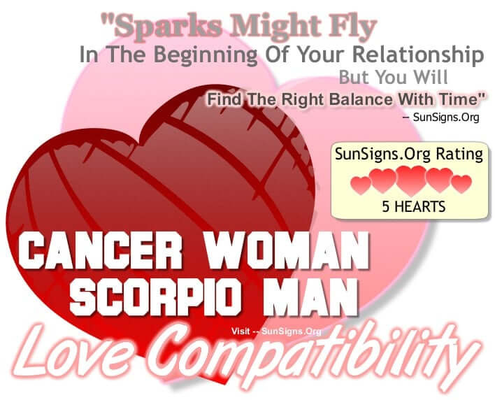 cancer man and scorpio woman relationship