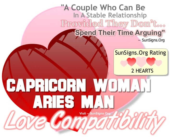 capricorn woman aries man