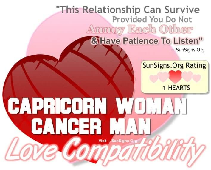 capricorn woman cancer man