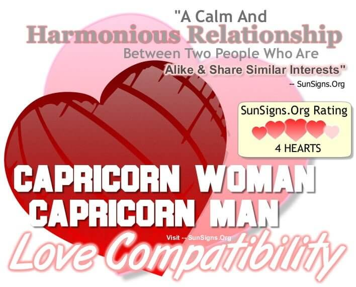 compatibility with capricorn man and capricorn woman