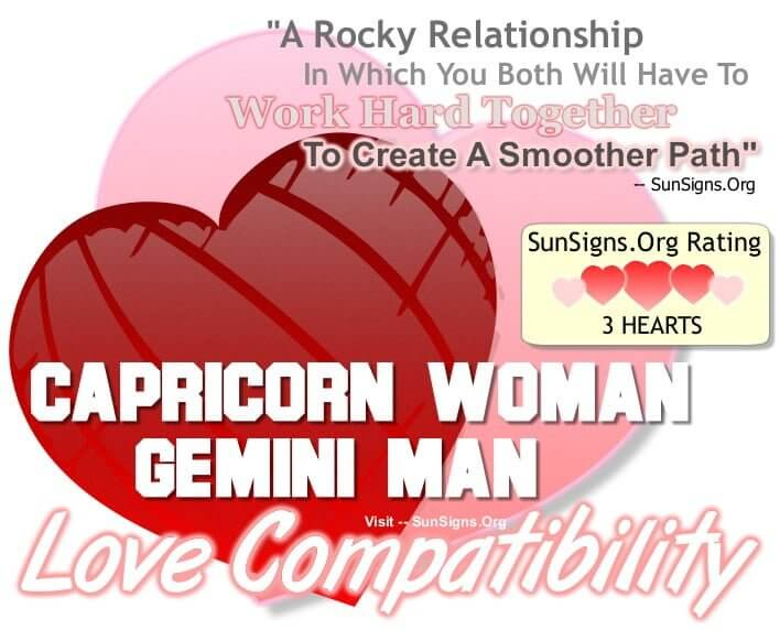 capricorn woman gemini man