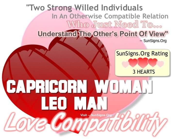 capricorn woman leo man
