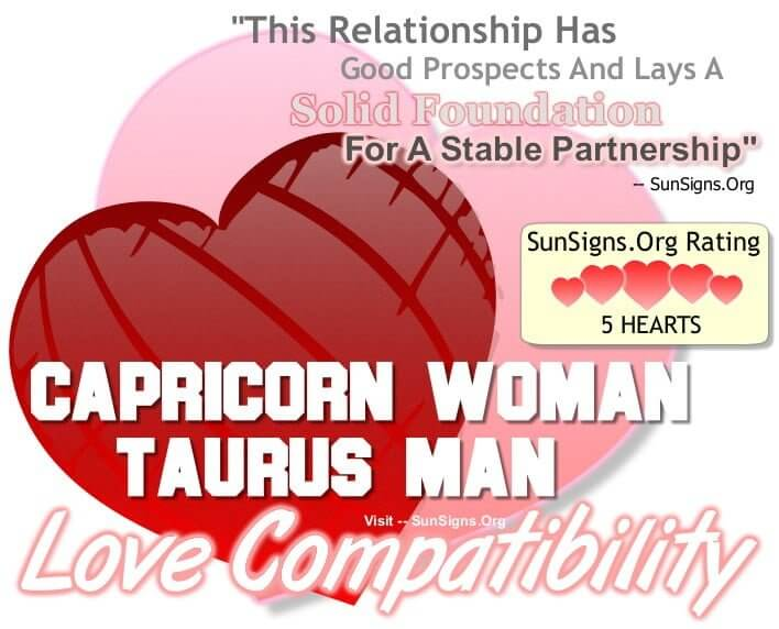 taurean man and capricorn woman compatibility