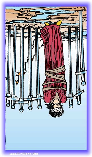 eight of swords reversed