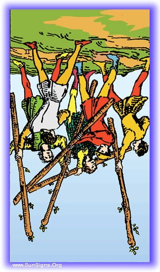 Five of Wands - Meanings & Interpretation - Minor Arcana