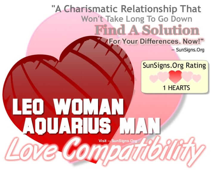 In Marriage Woman Man Aquarius Leo And