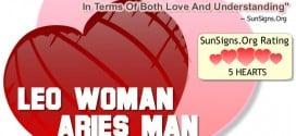 leo woman aries man