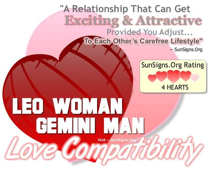 gemini man and leo woman relationship compatibility