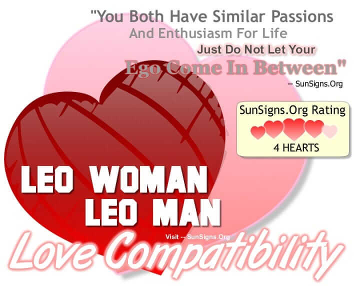 leo man leo woman compatible