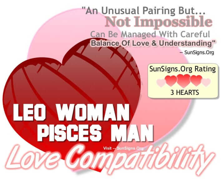 leo woman pisces man