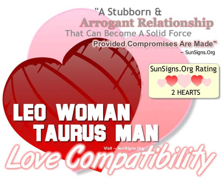 leo woman and taurus man love relationship