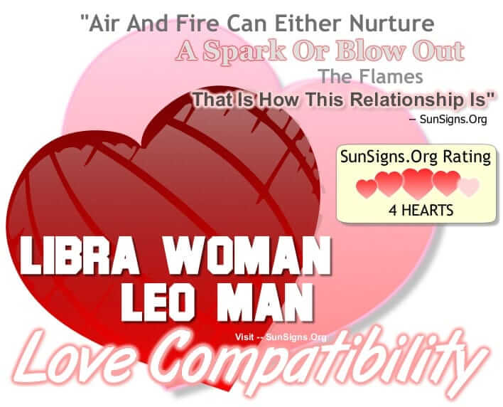 What is the compatibility of a Leo man and a Libra woman?