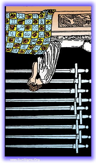 nine of swords reversed