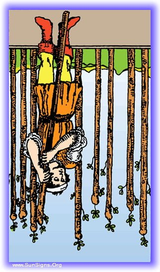 nine of wands reversed