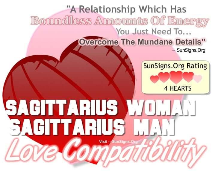 sagittarius woman sagittarius man