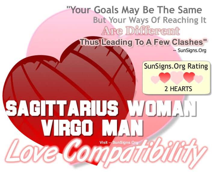 sagittarius woman virgo man