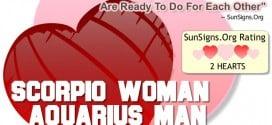 scorpio woman aquarius man