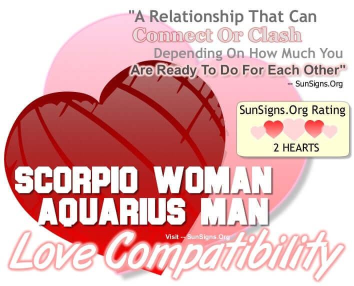 scorpio woman aquarius man