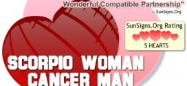 scorpio woman cancer man